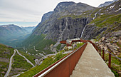 Path to the Utsikten viewing platform at Trollstigen, Andalsnes, Moere og Romsdal, Norway, Europe