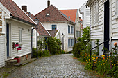 Holzhäuser in der Altstadt von Stavanger, Rogaland, Norwegen, Europa