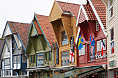 Colorful wooden houses on the harbor promenade in Stavanger, Rogaland, Norway, Europe
