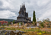 Stabkirche von Heddal, Telemark, Norwegen, Europa