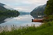 Abend am Norefjord bei Nore, Numedal, Buskerud, Norwegen, Europa
