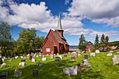 Stabkirche Hegge, Hegge, Gemeinde Östre Slidre, Oppland, Norwegen, Europa