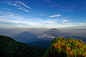 Gunung Kiematabu volcano on Tidore, opposite Ternate and the Gunung Gamalama, Moluccas, Indonesia, Southeast Asia, Asia