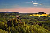 Marienfels, Aussichtsturm, Aussicht, Jetřichovice, Nationalpark, Böhmische Schweiz, Tschechien, Europa\n