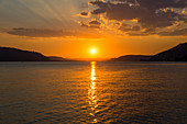 Sunset, near Überlingen, Lake Constance, Baden-Württemberg, Germany