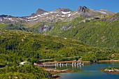 Fishing boats in the port of Vestpollen, Austvagoey, Lofoten, Nordland, Norway, Europe
