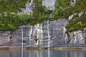 Ufer der Insel Hulloeya im Tysfjorden, Nordland, Norwegen, Europa