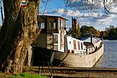 Havel, Potsdam West, water tower on the Hermannswerder island, Potsdam, Brandenburg state, Germany