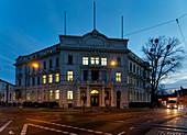 Administrative court, Friedrich-Ebert-Strasse at the corner of Kurfuerstenstrasse, Potsdam, State of Brandenburg, Germany