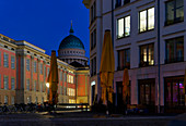 Otto Braun Platz, City Palace, Nikolaikirche, Alter Markt, Potsdam, Brandenburg State, Germany