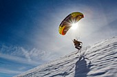 France, Savoie, the ski area of Les Saisies, Speed Riding