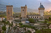 France, Ariege, Foix, Contal castle of Gaston Febus and counts of Foix overlooking the city