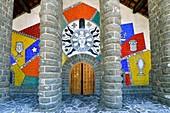 France, Haute Savoie, plateau d'Assy, Passy, Notre Dame de Toute Grace church, mosaic of Fernand Leger