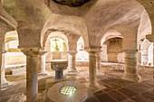 France, Puy de Dome, Billom, Saint Cerneuf church, crypt dated 12th centuryLivradois Forez Regional Natural Park