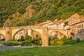 France, Haute Loire, Brioude, medieval bridge, Allier valley