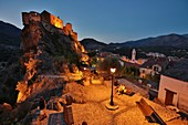France, Haute Corse, Corte, the old town and its citadel of the fifteenth century