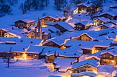 France, Savoie, Vanoise National Park, Bonneval sur Arc, labelled Les Plus Beaux Villages de France (The Most Beautiful Villages of France), the highest village of Haute Maurienne (1850 m)