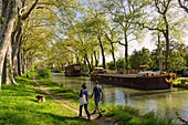 France, Haute Garonne, Toulouse, the Canal du Midi listed as World Heritage by UNESCO