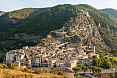 France, Alpes de Haute Provence, Entrevaux classified village and city of character, fortified by Vauban