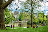 France, Paris, 14th district, Montsouris park, the favorite place of relaxation for students from the nearby Cité Universitaire