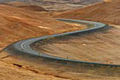 Windy road,Namafjall mountain,Myvatn lake area,Iceland