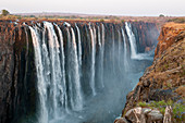 Scenic view of Victoria Falls,Zambezi River,Zimbabwe
