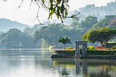 Kandy Lake (Kiri Muhuda or Sea of Milk),artificial lake in heart of hill city,Kandy,Sri Lanka
