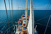 Star Clipper cruise ship sailing in Andaman sea,Thailand
