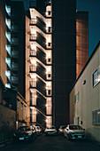 Modern apartment building blocks,Osaka,Japan