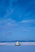 Solitude tent,White Sands National Monument,New Mexico,US