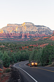 Off road vehicle driving through Sedona,Arizona,United States