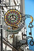 Elaborate Shop Sign, Getreidegasse, Altstadt, Mozarts Birthplace, UNESCO World Heritage Site, Salzburg, Auistria, Europe