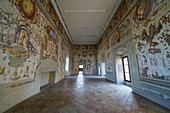 Frescoes in the Juggler's Salon of Torrechiara Castle, Langhirano, Parma, Emilia-Romagna, Italy, Europe