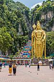 Lord Murugan Statue at the Batu Caves, Kuala Lumpur, Malaysia, Southeast Asia, Asia