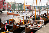 Wooden sailboats at the old boat festival in Trondheim, Trondelag, Norway, Scandinavia, Europe