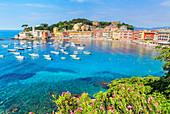 Bucht der Stille, Sestri Levante, Ligurien, Italien, Europa