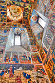 Frescoes, Elijah the Prophet Church, UNESCO World Heritage Site, Yaroslavl, Yaroslavl Oblast, Russia, Europe