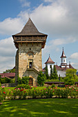 Tower, Humor Monastery, 1530, UNESCO World Heritage Site, Manastirea Humorului, Suceava County, Romania, Europe