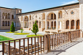 Tabatabai House, Inner courtyard, Kashan, Isfahan Province, Islamic Republic of Iran, Middle East