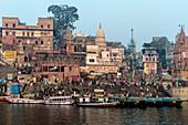 Dashashwamedh Ghat, Varanasi, Uttar Pradesh, India, Asia