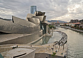 Guggenheim Museum in Bilbao, Vizcaya, Basque Country, Euskadi, Spain, Europe