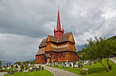 Ringebu Stave Church, Stavkyrkje Ringebu, Ringebu, Rondanevegen, Gudbrandsdalen, Oppland, Norway, Europe