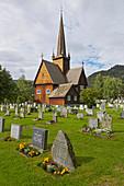 Stabkirche Vaga, Stavkyrkje Vaga, Vagakyrkja, Vagamo, Oppland, Norwegen, Europa