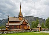 Lom Stave Church, Stavkyrkje Lom, Lom, Oppland, Norway, Europe