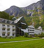 Fretheim Hotel in Flam on Aurlandsfjorden, Sogn og Fjordane, Norway, Europe
