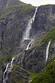 Kjelfossen waterfall near Gudvangen, Sogn og Fjordane, Norway, Europe