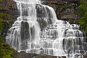 Tvindefossen waterfall near Voss, Hordaland, Norway, Europe