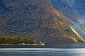 In the Hjoerundfjorden near Alesund, Moere og Romsdal, Norway, Europe