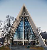 Eismeerkathedrale in Tromsö, Ishavskatedralen, Tromsöysundet, Troms, Norwegen, Europa