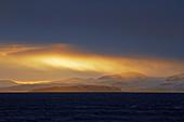 Dramatic light in Porsangen near Honningsvag, Mageröya Island, Finnmark Province, Norway, Europe